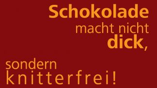 Schokolade Knitterfrei - Motiv-Nr. 122-0