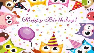 Happy Birthday-Eule - Motiv Nr. 50-0