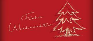 Frohe Weihnachten-Tanne - Motiv-Nr. 156-0
